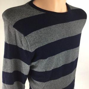 J.CREW Pullover Knit Crewneck Striped Mens Sweater